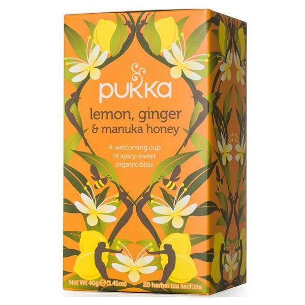 Bilde av Pukka Lemon, Ginger & Manuka Honey tea 20 poser