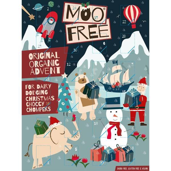Bilde av Moo Free Adventskalender, melkefri & vegansk 70 g