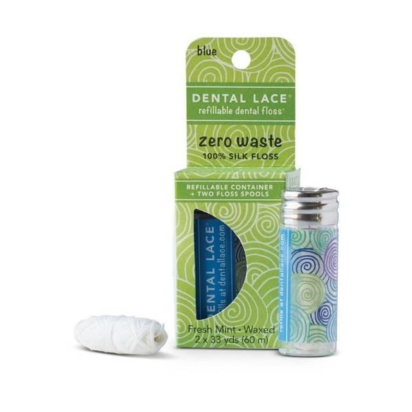 Bilde av Dental Lace Berry Blue tanntråd glass