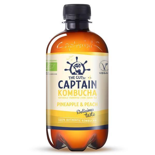 Bilde av Captain Kombucha Pineapple & Peach 400 ml
