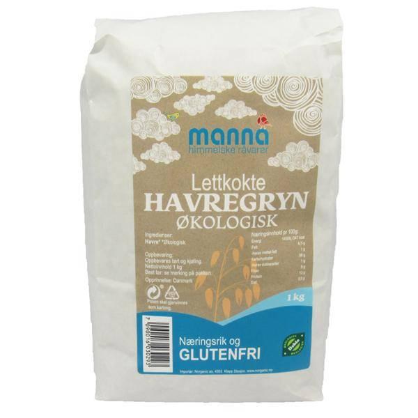 Bilde av Manna Havregryn lettkokte glutenfri 1 kg