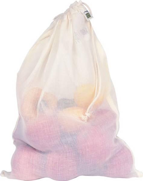 Bilde av ECOBAGS® 3x gjennomsiktig bomullspose Large