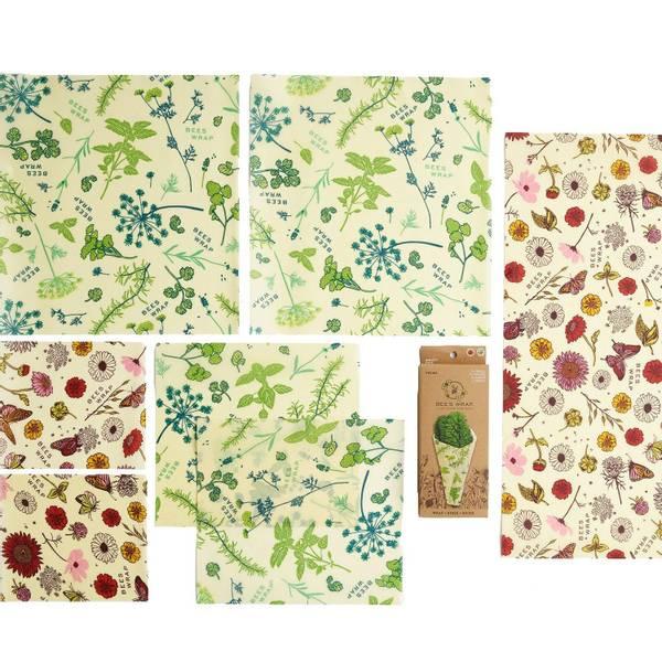 Bilde av Vegan Bees Wrap - Variety Pack 7 ark Mixed Prints